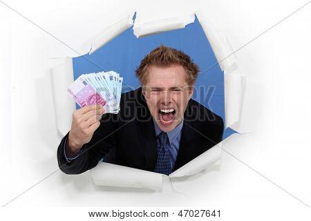 A businessman with plenty of cash.
