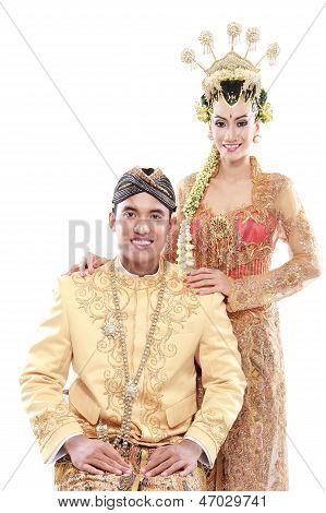 Traditional Java Wedding Couple Husband And Wife