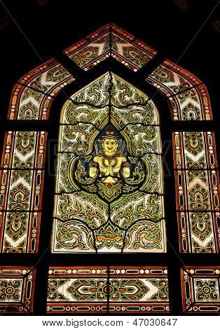 Stain Glass Of Angle