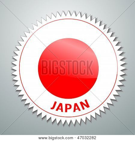Japanese flag label