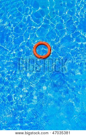 Life buoy in the swimming pool