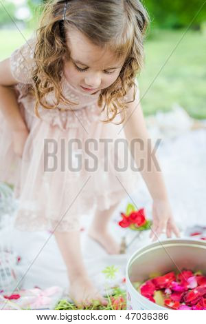 Girl Giving Flower