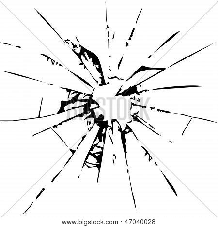 Abstract broken glass