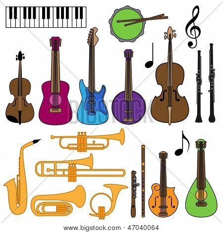 Music.Vector Collection of Musical Instruments