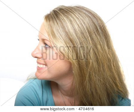 lächelnd Profilansicht