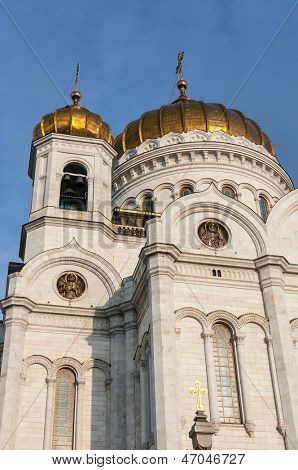 Russian Orthodox Cathedral - The Temple Of Christ The Savior in Moscow - Russia