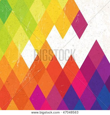 Retro colorful rhombus background. Raster version, vector file available in portfolio.