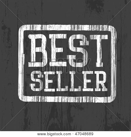 Best seller stamp. Raster version, vector file available in portfolio.