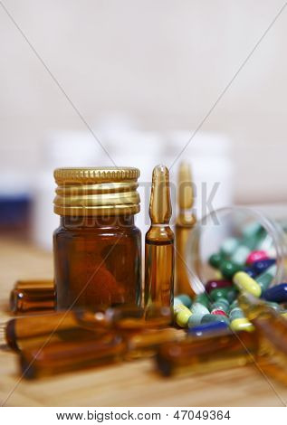 Ampoules And Pills For Controlling Various Diseases