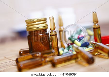 Ampoules And Pills For Disease Control