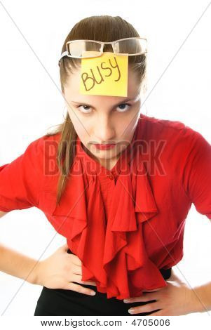 Angry Busy Businesswoman