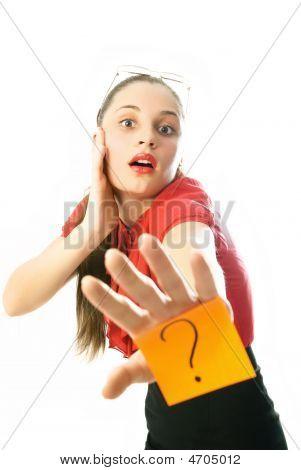 Businesswoman Has A Question