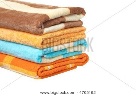 Wonderful , Brilliance Towels  On A White Background.
