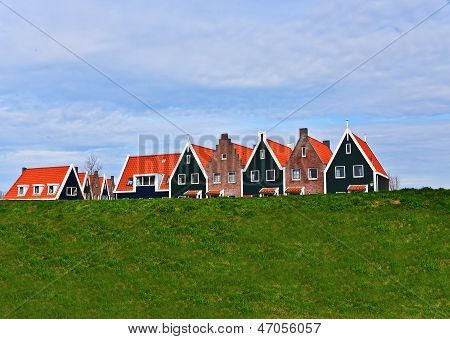 Homes Behind Dyke