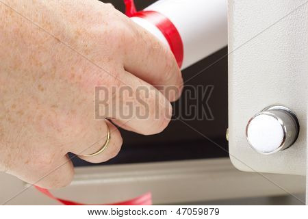 Valuable Documents In The Bank Safe