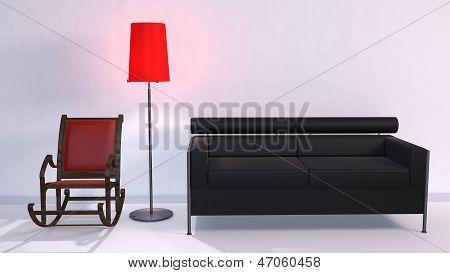 Couch Schaukelstuhl