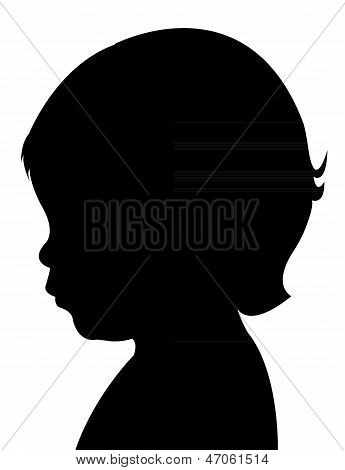 child head silhouette vector
