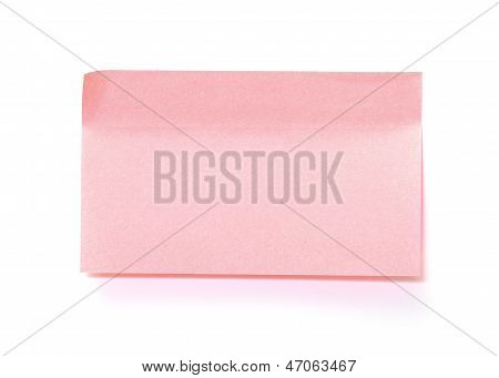 Pink Paper Sticky Stickers