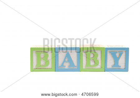 Baby In Children Blocks Clipping Path