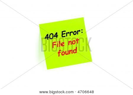 404 Error: File Not Found On A Note