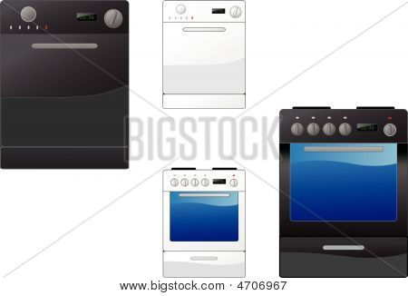 Stove And Dishwasher
