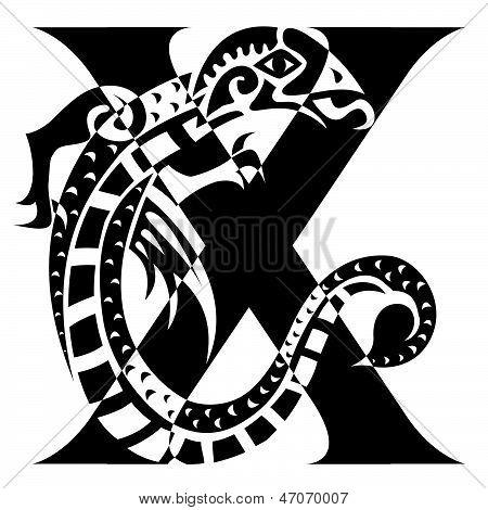 Dragon Letter X