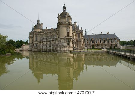Castle Of Chantilly In France - Rear View  (2)