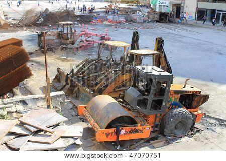 Destroyed machines
