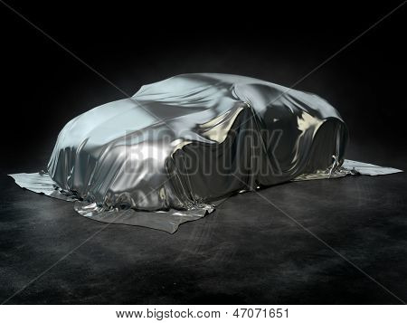 Sports car under the cover
