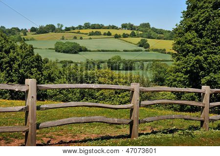 Fence and hills