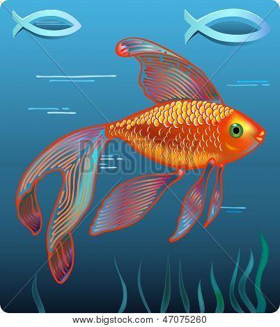 Golden Jesus Fish
