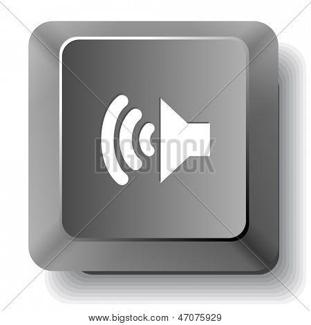 Speaker. Vector computer key.