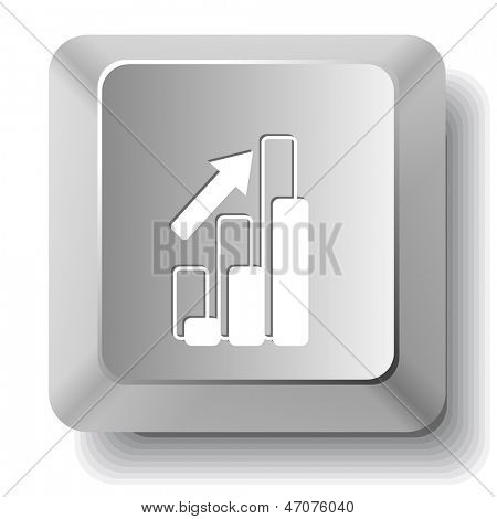Diagram. Vector computer key.
