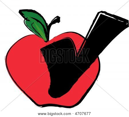 Apple With Check Mark.