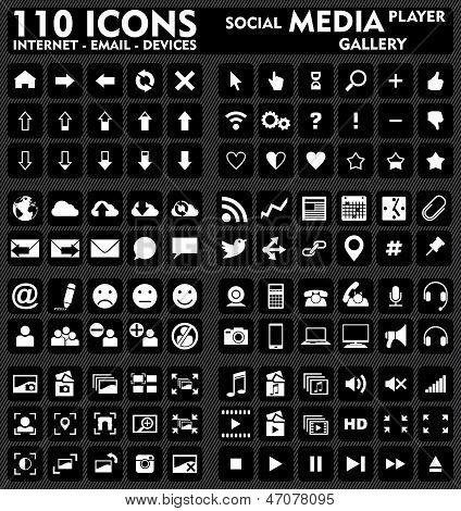 Internet & Media - 110 Icons Set