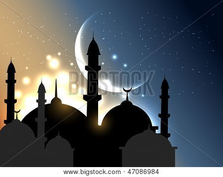 vector islamic background design illustration