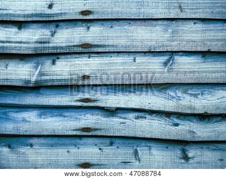 Blue larch lap wooden fence panel (non repeating) for backgrounds.