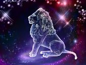 stock photo of horoscope signs  - Lion is the king of animals - JPG