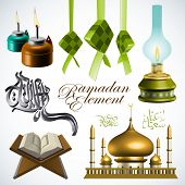 stock photo of jawi  - 3D Ramadan Element - JPG
