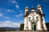 pic of assis  - View of the Igreja de Sao Francisco de Assis of the unesco world heritage city of ouro preto in minas gerais brazil - JPG