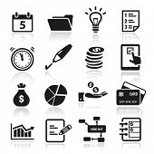 stock photo of concentration  - Collection of productivity and time management icons - JPG