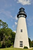 picture of coast guard  - Amelia Island Lighthouse is Nassau County Florida is the oldest operating lighthouse in Florida and the most western from the shore on the East Coast - JPG