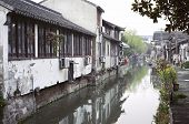 Canal And Traditional Architecture On Pingjiang Road, Suzhou