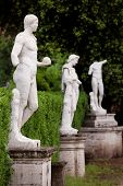 foto of naturalist  - Replica sculpture in the Villa Borghese garden in Rome which is a large landscape garden in the naturalistic English manner in Rome containing a number of buildings museums and attractions - JPG