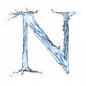 stock photo of letter n  - Water letter  - JPG