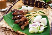 foto of sate  - Satay or sate - JPG