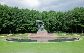 foto of chopin  - The Chopin Statue in Lazienki Park aka Royal Baths park - JPG