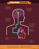 foto of pressure vessel  - Brain and heart connected infographic - JPG