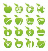 picture of food logo  - Set of apple icons - JPG