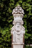 pic of naturalist  - Replica sculpture in the Villa Borghese garden in Rome which is a large landscape garden in the naturalistic English manner in Rome containing a number of buildings museums and attractions - JPG